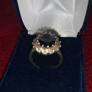 blue Stone Sterling Silver Ring 925